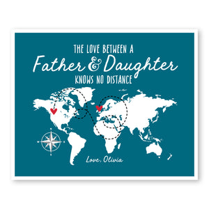 Father and Daughter World Map