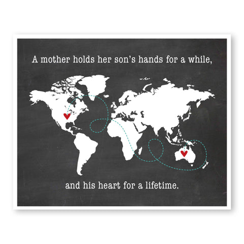 Mother & Son World Map