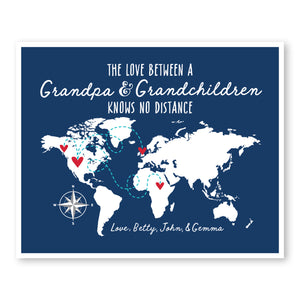Grandpa and Grandchildren World Map