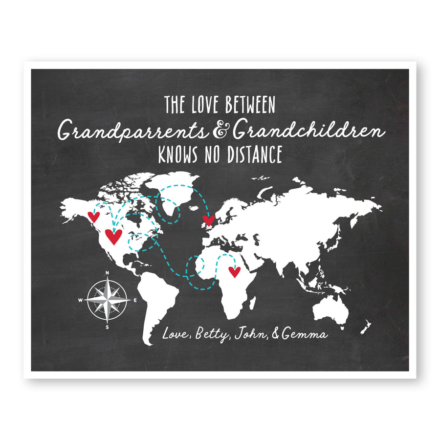 Grandparents and Grandchildren World Map