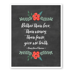 Rather Than Love, Than Money, Give Me Truth