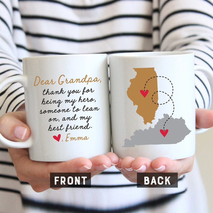 Dear Grandpa with Personalized Message Mug