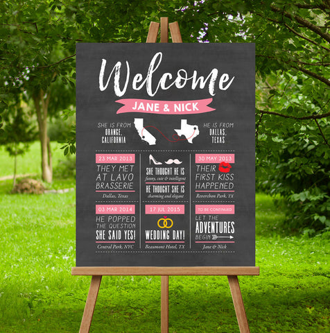 Love Infographic Wedding Sign