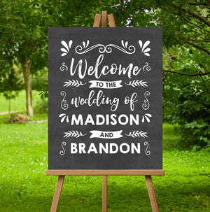 Swashes Wedding Sign