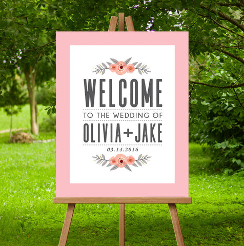 Garden Wedding Sign