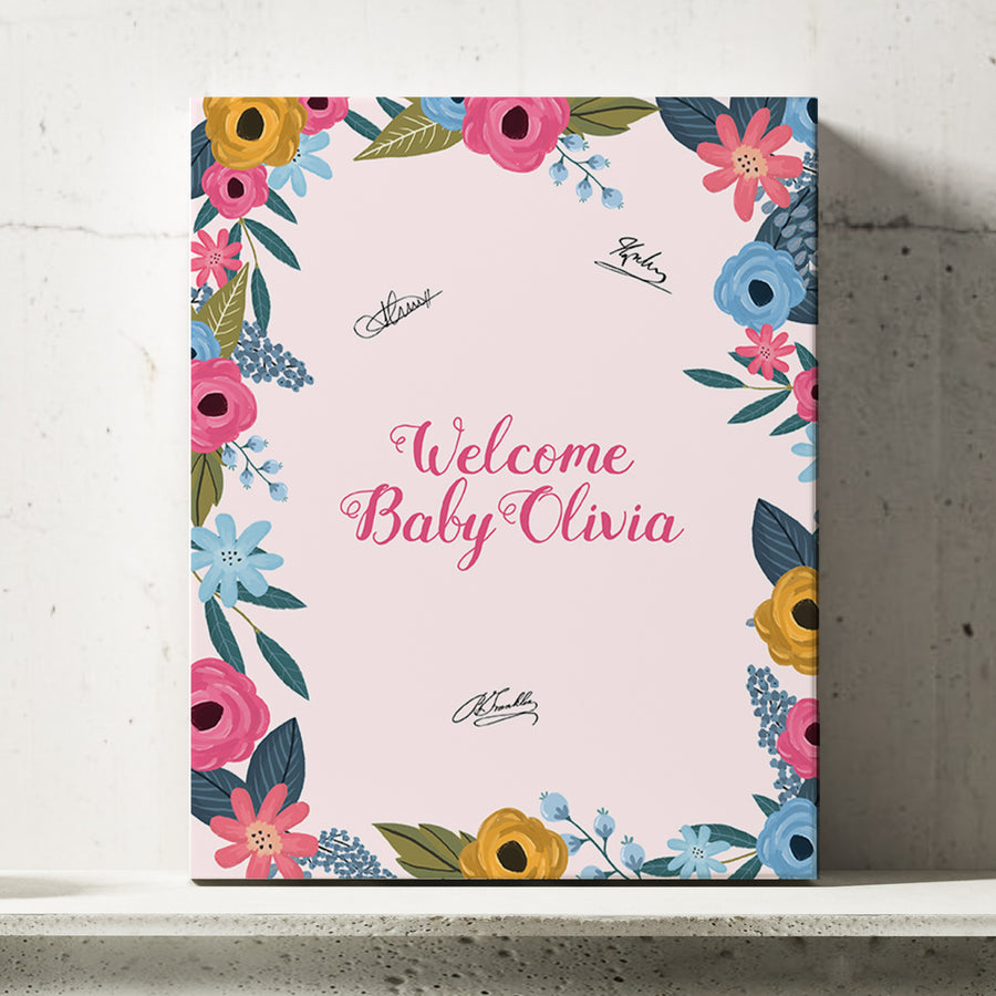 Floral Baby Shower Guest Book Alternative