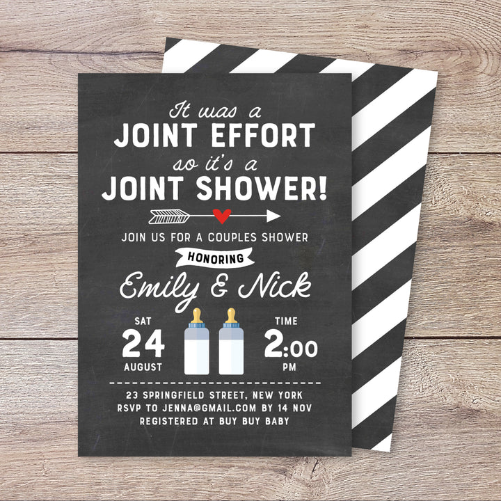 It's a Joint Effort Shower Invitation