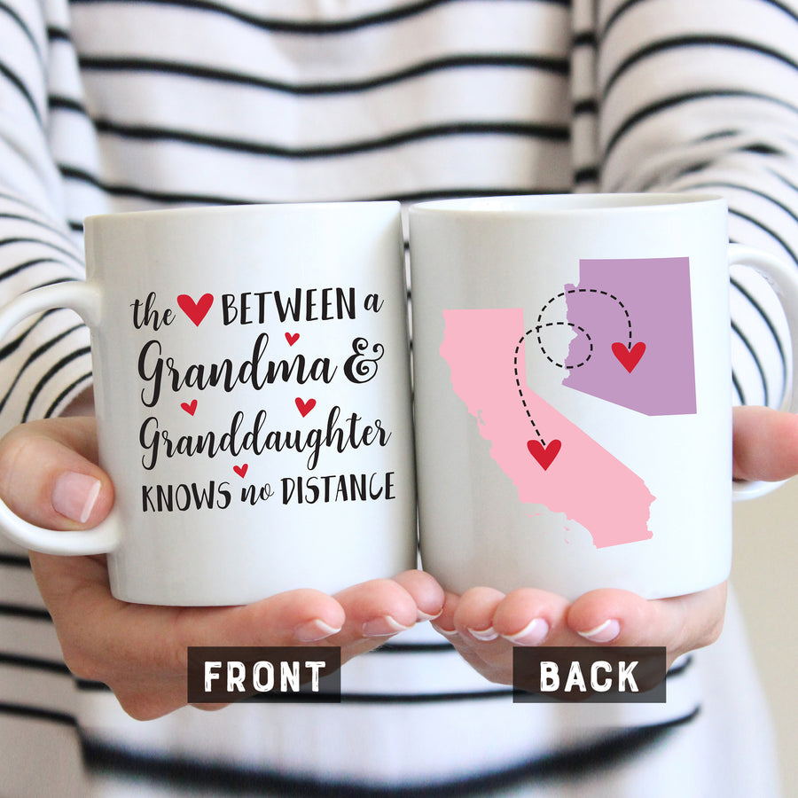 Love Between Grandma and Granddaughter Mug