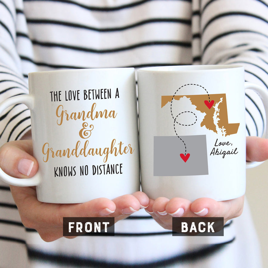 Grandma and Granddaughter Long Distance Mug