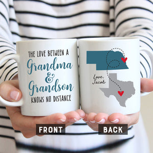 Grandma and Grandson Long Distance Mug