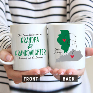 Grandpa and Granddaughter Long Distance Mug