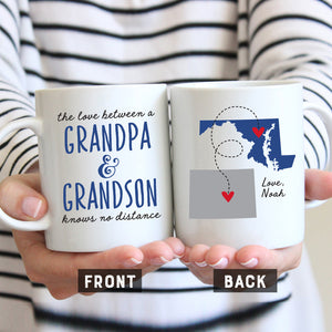 Grandpa and Grandson Long Distance Mug