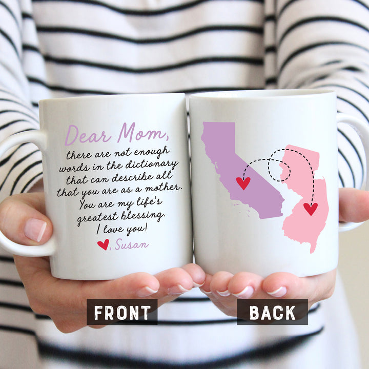Dear Mom with Personalized Message Mug