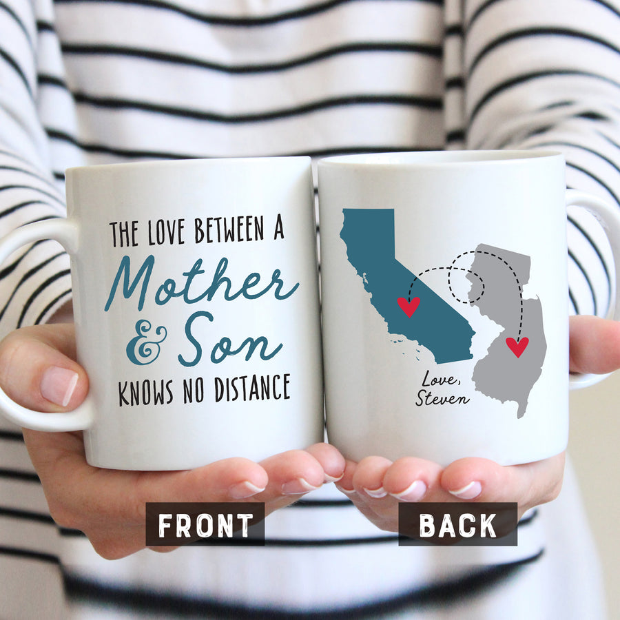 Mother and Son Long Distance Mug
