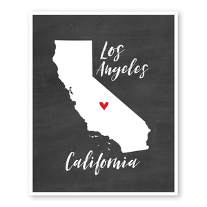 los-angeles-california-state-map-art-custom-chalkboard-wall-art
