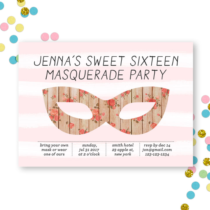 masquerade-sweet-sixteen-invitation-party-pink