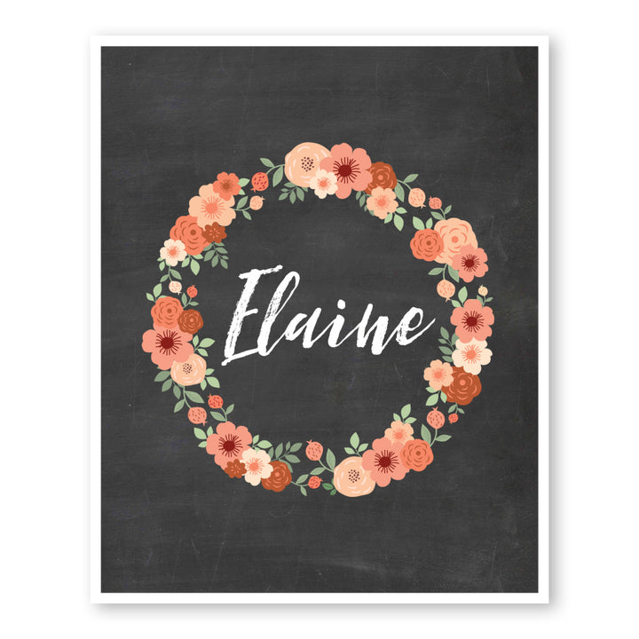 Flower Wreath Monogram