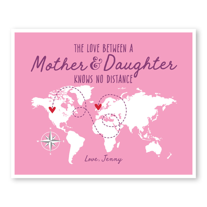 Mother and Daughter World Map