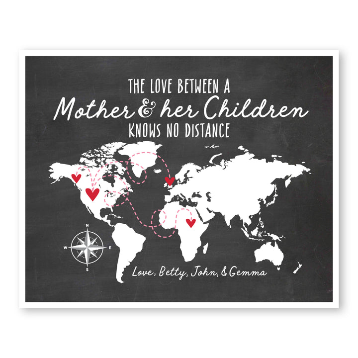 Mother and her Children World Map
