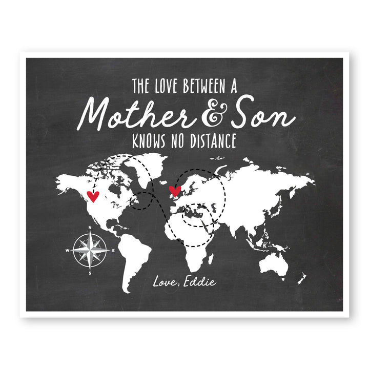 Mother and Son World Map