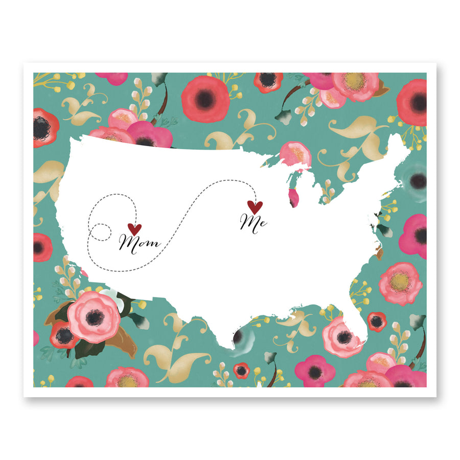 Floral Long Distance Map