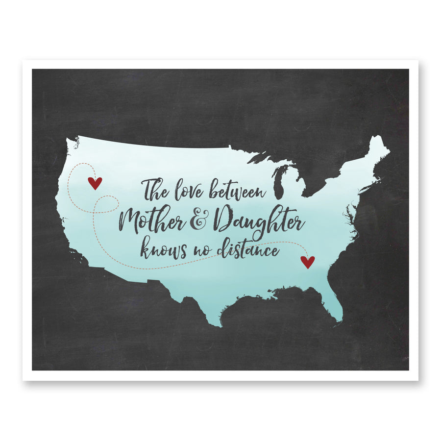Mother & Daughter Ombre Map