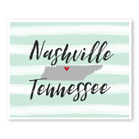nashville-tennessee-state-map-art-custom-striped-wall-art