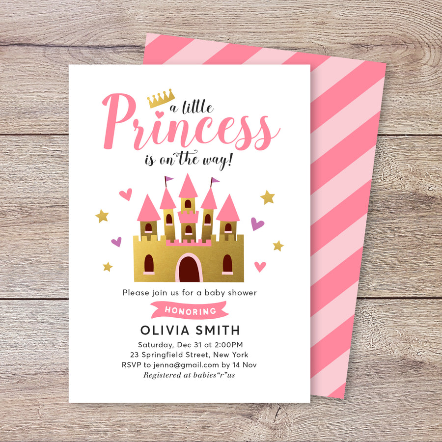 A Little Princess Baby Shower Invitation