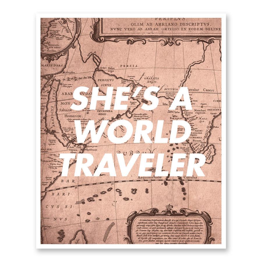 She's A World Traveler