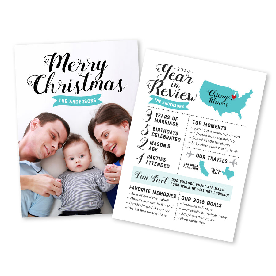 Simple Year in Review Card