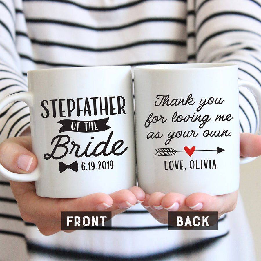 Personalized Stepfather of the Bride Mug