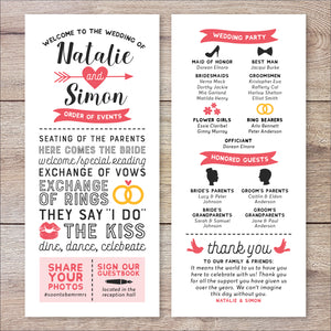 Typography Wedding Program