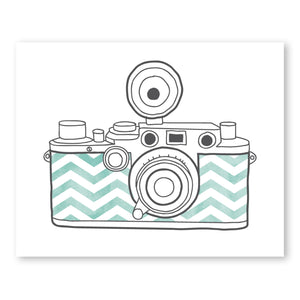 Camera Mint Chevron