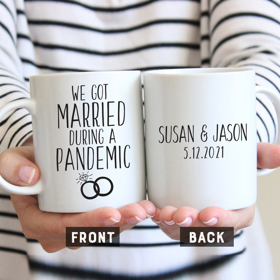 We got married during a pandemic mug