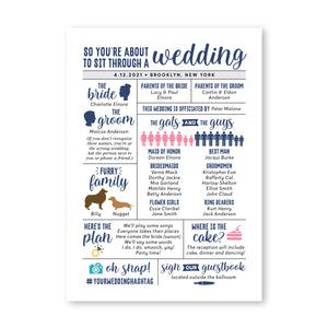 Fun Infographic Wedding Program