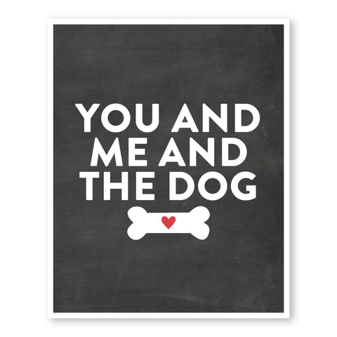 You And Me And The Dog Couple Gift Ideas |