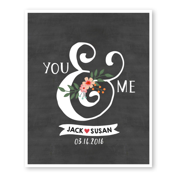 Custom You And Me Romantic Wall Art