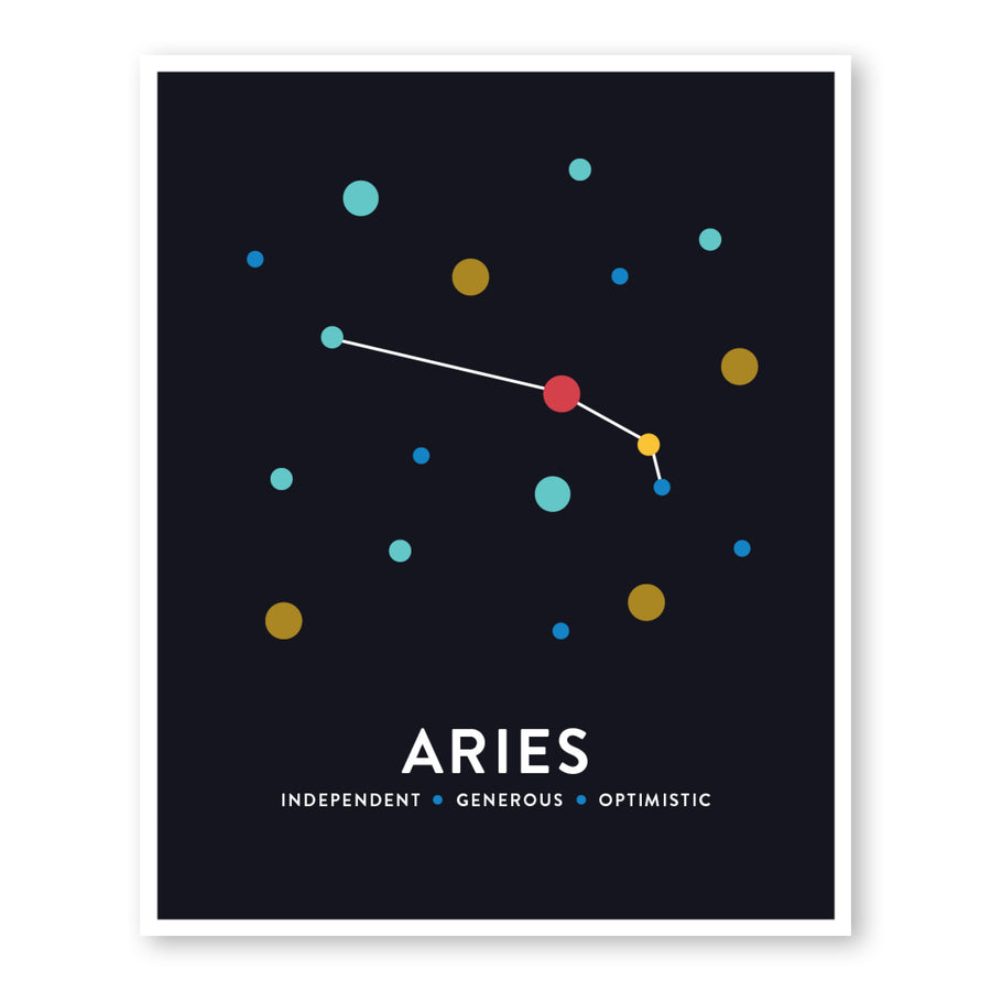 Aries Constellation Art Print