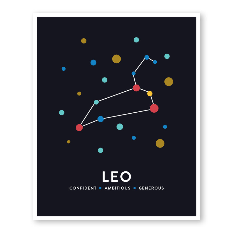 Leo Constellation Art Print