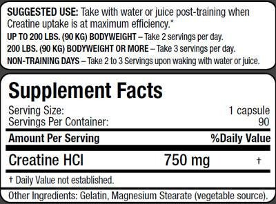 Image result for beyond yourself creatine hcl label