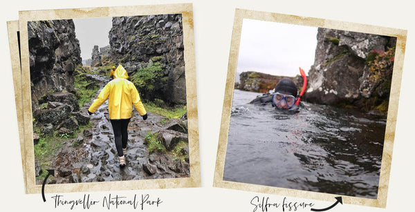 silfra snorkel between two tectonic plates / two continents