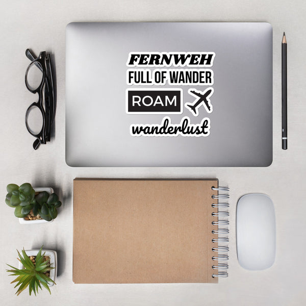 Wordy Wanderlust Stickers