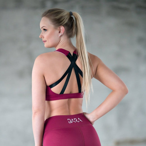 Cherry Signature Sports Bra - BARA Sportswear