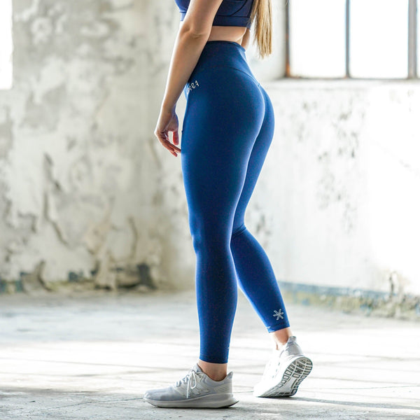 Blue 7/8 Tights - BARA Sportswear