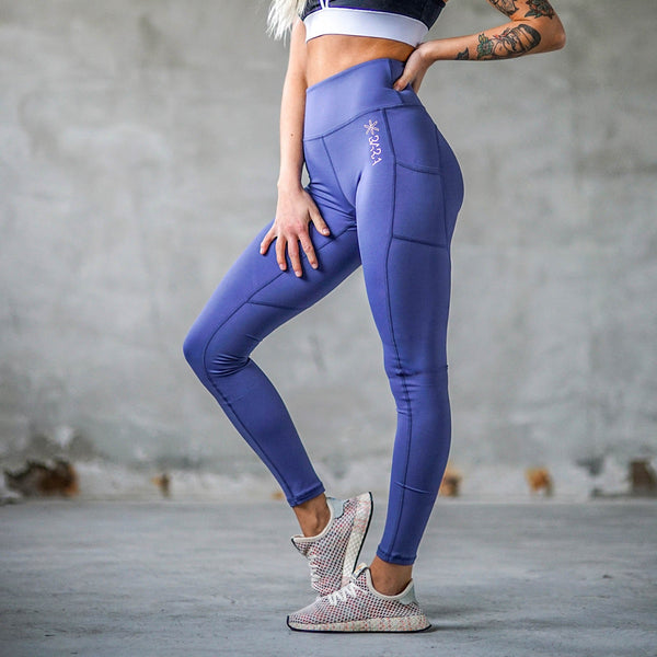 Storm Blue Power Tights