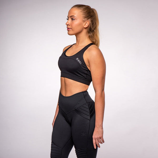 Black Curve Adjustable Bra - BARA Sportswear