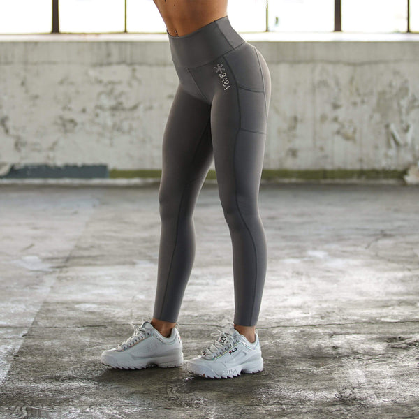 Charcoal Power Tights - BARA Sportswear