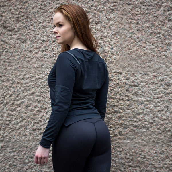 Adapt Black Long Sleeve - BARA Sportswear
