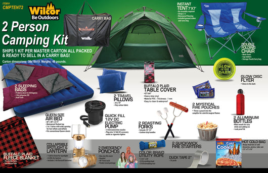 2 Person Camping Kit - Wilcor