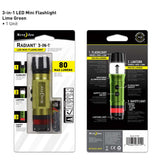 Nite Ize - Radiant 3 in 1 LED Mini Flashlight - Green